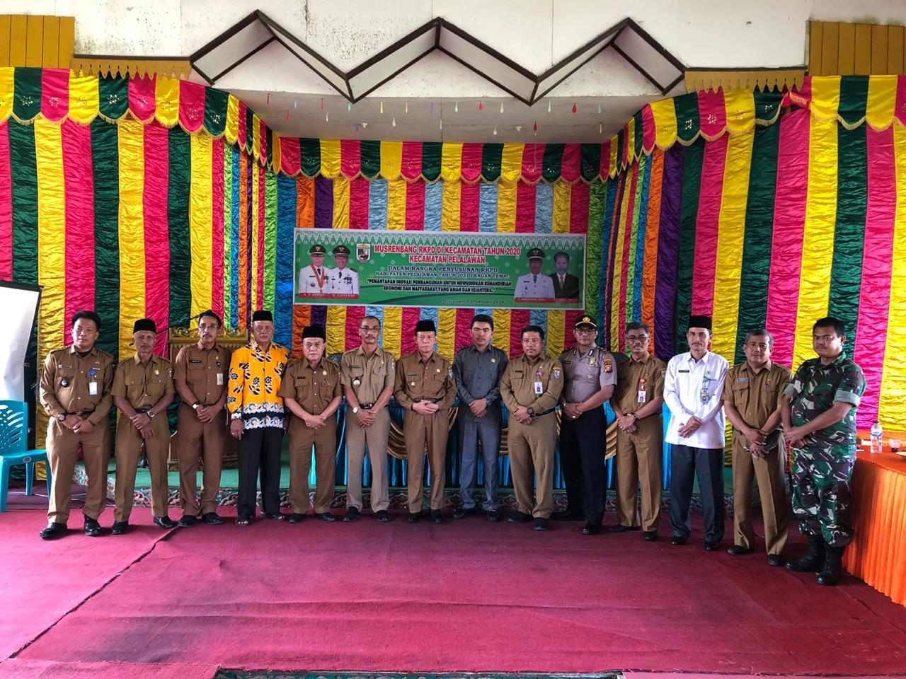 Wakil Bupati Pelalawan Buka Secara Resmi Musrenbang Di Kecamatan Pelalawan Tahun 2020